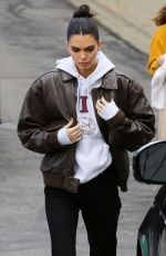 KENDALL JENNER Arrives at a Studio in Los Angeles 03/07/2019