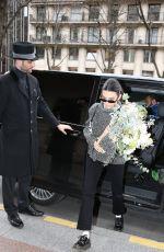 KENDALL JENNER Arrives at George V Hotel in Paris 03/15/2019