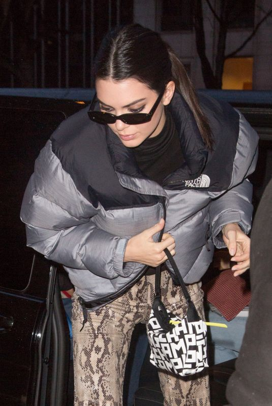 KENDALL JENNER Arrives at Her Hotel in Paris 03/14/2019