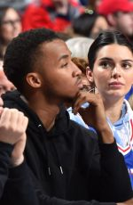 KENDALL JENNER at Pacers vs 76ers Game in Philadelphia 03/10/2019