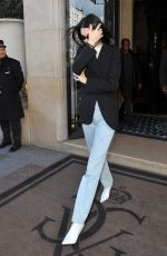KENDALL JENNER Leaves Her Hotel in Paris 03/13/2019