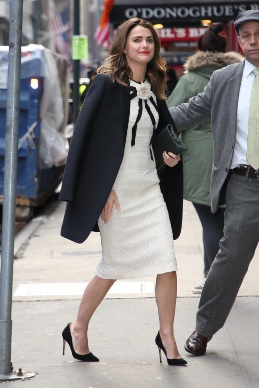 KERI RUSSELL Arrives at Good Morning America in New York 03/25/2019
