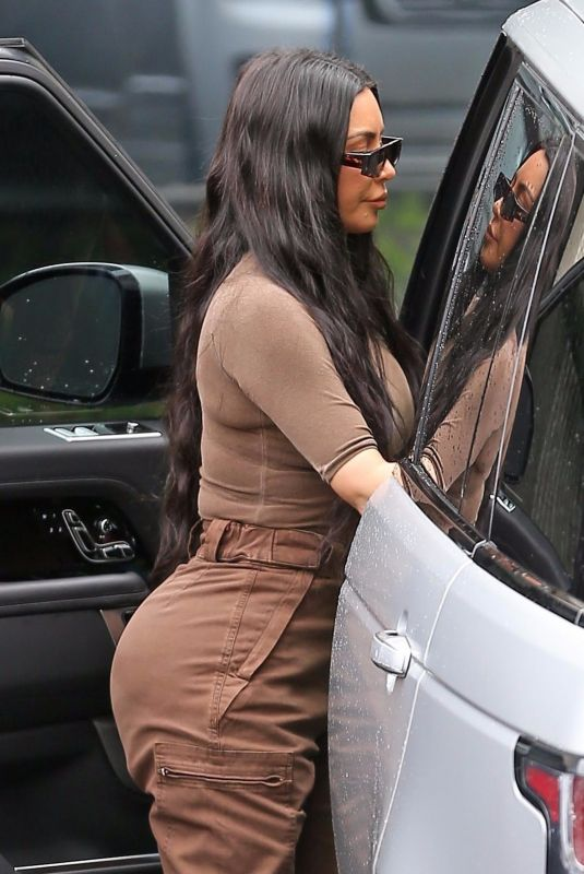 KIM KARDASHIAN Arrives at Church Services in Calabasas 03/03/2019