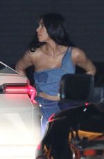 KIM KARDASHIAN in Denims at Nobu in Malibu 02/27/2019