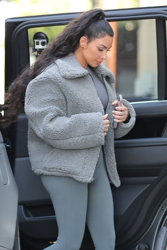 KIM KARDASHIAN Out in West Hollywood 03/21/2019