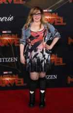 KIRSTEN VAGSNESS at Captain Marvel Premiere in Hollywood 03/04/2019
