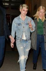 KRISTEN STEWART in Ripped Jeans Leaves Louis Vuitton Party in Paris 03/05/2019