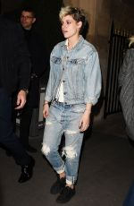 KRISTEN STEWART in Ripped Jeans Leaves Louis Vuitton Party in Paris 03/05/2019