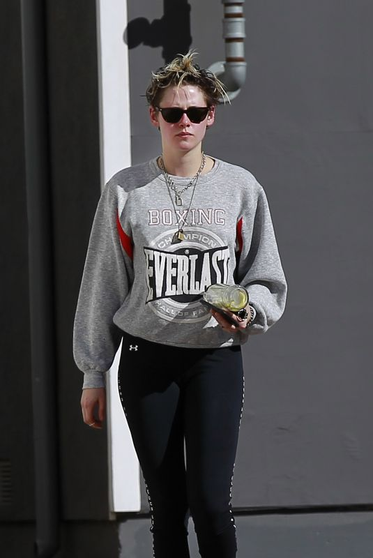 KRISTEN STEWART Out and About in Los Angeles 03/01/2019