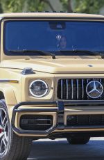 KYLIE JENNER Driving Her Mercedes-benz AMG G63 Out in Los Angeles 03/13/2019