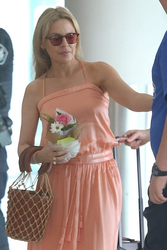 KYLIE MINOGUE at Airport in Perth 03/10/2019