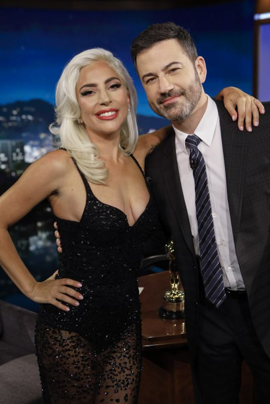 LADY GAGA at Jimmy Kimmel Live in Hollywood 02/27/2019