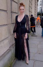 LARSEN THOMPSON Out at Paris Fashion Week 03/02/2019