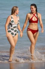 LAUREN HUNTRISS in Swimsuit at a Beach in Sydney 03/04/2019