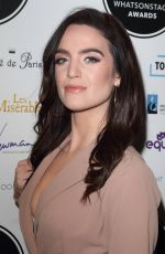 LAUREN SAMUELS at Whatsonstage Awards 2019 in London 03/03/2019