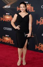 LAURIE HERNANDEZ at Captain Marvel Premiere in Hollywood 03/04/2019