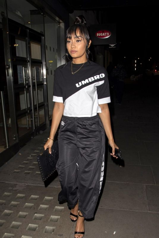 LEIGH-ANNE PINNOCK Night Out in London 03/14/2019