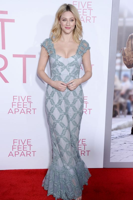 LILI REINHART at Five Feet Apart Premiere in Los Angeles 03/07/2019