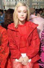LILI REINHART at Valentino Show at Paris Fashion Week 03/02/2019