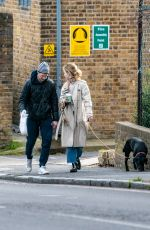 LILY JAMES Out with Her Dog in London 03/09/2019