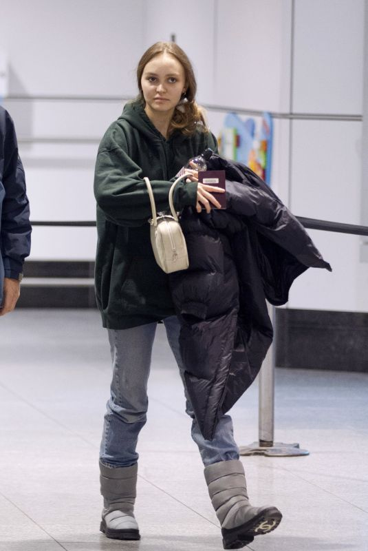 LILY-ROSE DEPP at Airport in Montreal 03/12/2019