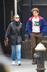 LILY-ROSE DEPP in a Leather Jackets Out in New York 03/08/2019