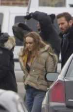 LILY-ROSE DEPP on the Set of Dreamland in Montreal 03/15/2019
