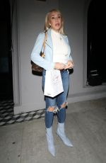LINDA THOMPSON in Ripped Jeans at Craig