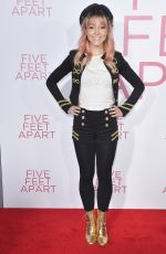 LINDSEY STIRLING at Five Feet Apart Premiere in Los Angeles 03/07/2019