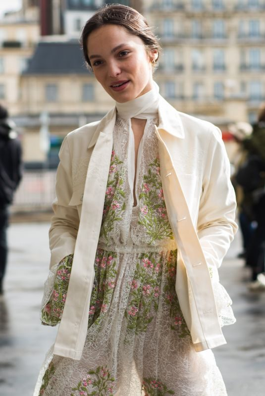 LOLA LE LANN at Giambattista Valli Show at Paris Fashion Week 03/04/2019