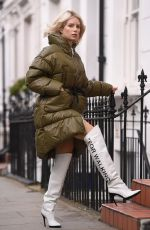 LOTTIE MOSS Out and About in London 03/07/2019