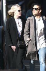 LUCY BOYNTON and Rami Malek Out in New York 03/11/2019
