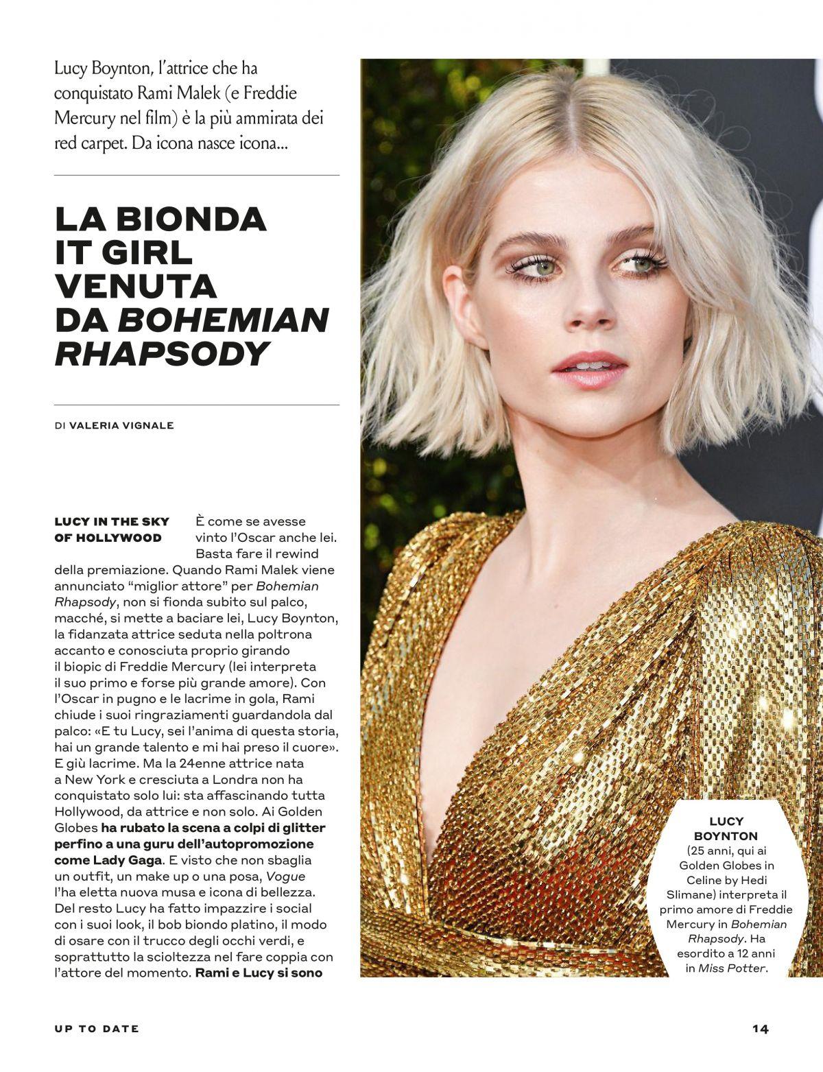 Tustyle Magazine November 2015 Issue: LUCY BOYNTON In Tu Style Magazine, March 2019