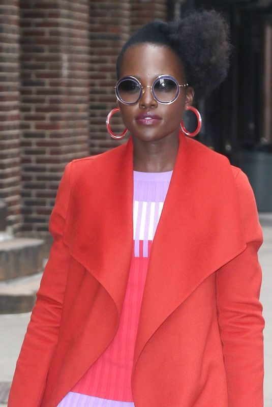 LUPITA NYONG'O Arrives at Late Show with Stephen Colbert in New York 03/18/2019