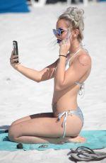 LYRA RAE in a Silver Bikini at a Beach in Miami 03/03/2019