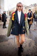 MAISIE WILLIAMS Arrives at Sacai Show at Paris Fashion Week 03/04/2019