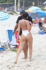 MARIA MELILO in Swimsuit at Pepe Beach in Rio De Janeiro 03/05/2019