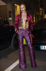 MARIACARLS BOSCONO Arrives at Versace Dinner in Milan 03/03/2019
