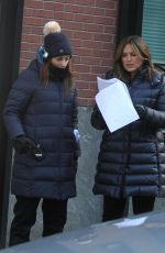 MARISKA HARGITAY on the Set of Law and Erder: Special Victims Unit in New York 03/07/2019