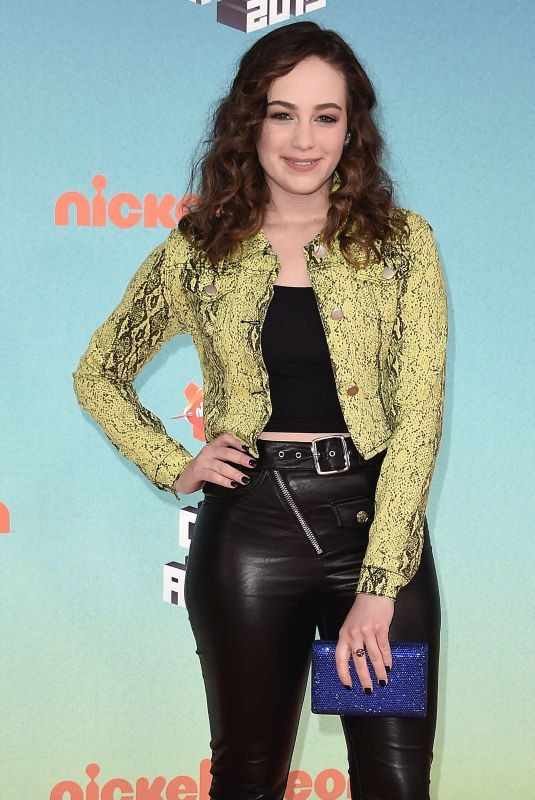 MARY MOUSER at Nickelodeon's Kids' Choice Awards 2019 in Los Angeles 03/23/2019