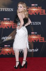 MEG DONNELLY at Captain Marvel Premiere in Hollywood 03/04/2019