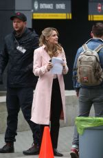 MELISSA BENOIST on the Set of Supergirl in Vancouver 03/07/2019