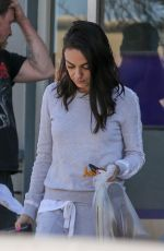 MILA KUNIS Leaves Sunset City Nails in Los Angeles 03/15/2019