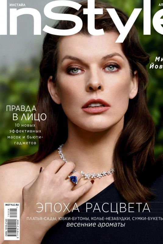 MILLA JOVOVICH in Instyle Magazine, Russia April 2019