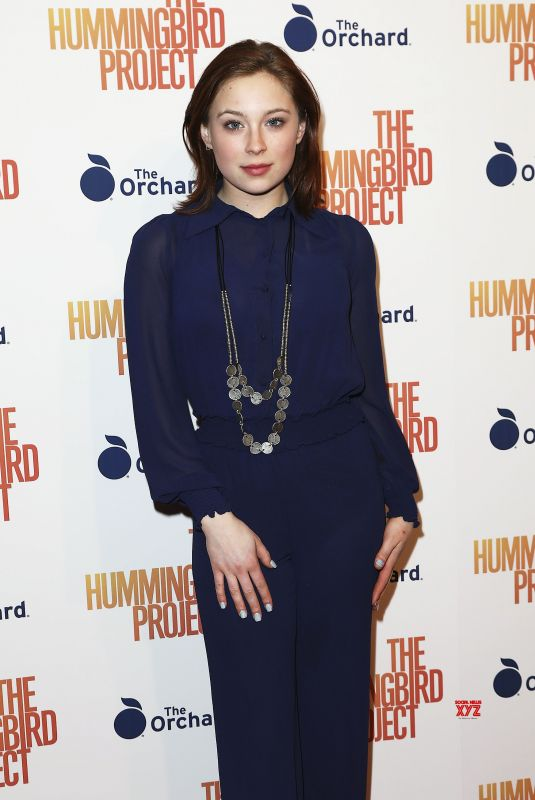 MINA SUNDWALL at The Hummingbird Project Screening in New York 03/11/2019