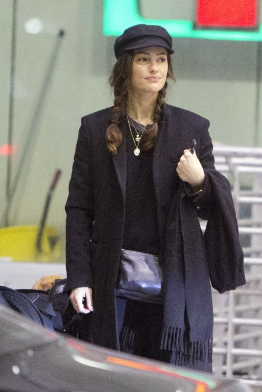 MINKA KELLY Arrives at Airport in Toronto 03/07/2019