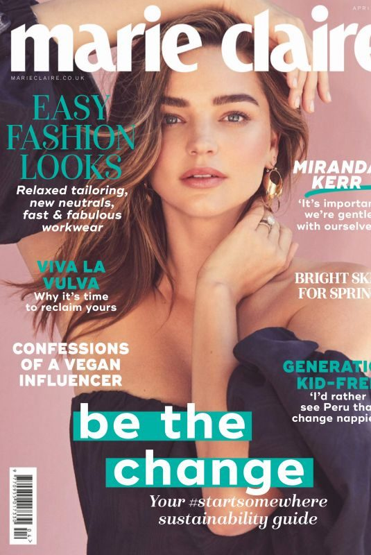 MIRANDA KERR in Marie Claire Magazine, UK April 2019
