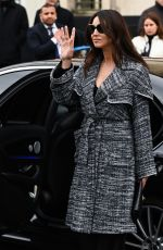 MONICA BELLUCCI Arrives at Chanel Show in Paris 03/05/2019