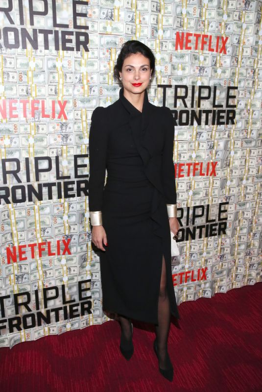 MORENA BACCARIN at Triple Frontier Premiere in New York 03/03/2019