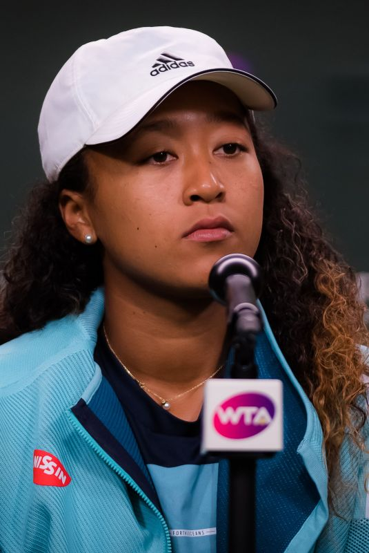 NAOMI OSAKA at Indian Wells Masters Press Conference 03/09/2019